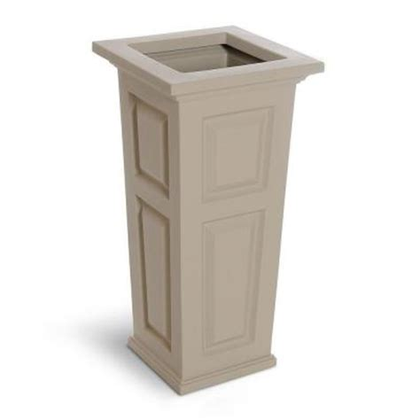 Column Planters by Mayne Nantucket 15 1 2 In Square Clay Plastic Column