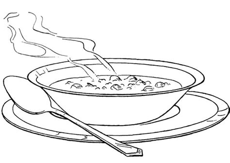 Soup Coloring Pages free soup bowl coloring pages