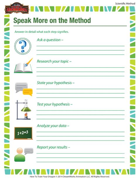 speak more on the method kid scientific method steps sod