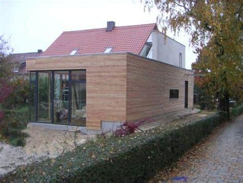 kosten anbau flachdach ein massivholzanbau mit flachdach erweitert die wohnfl 228 che