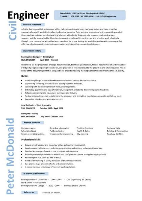 resume template engineer civil engineer resume template