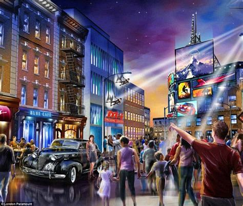 theme park kent paramount paramount london to be built by 2021 daily mail online