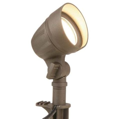 Low Voltage Flood Lights Outdoor Hton Bay Low Voltage Led 20w Halogen Equivalent Outdoor Bronze Flood Light Iwo1501ls 2