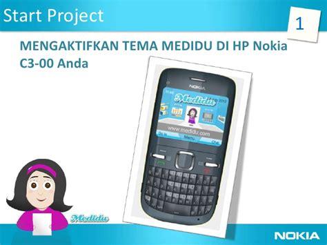 Hp Nokia C3 00 2 aplikasikan tema medidu di handphone nokia c3 00