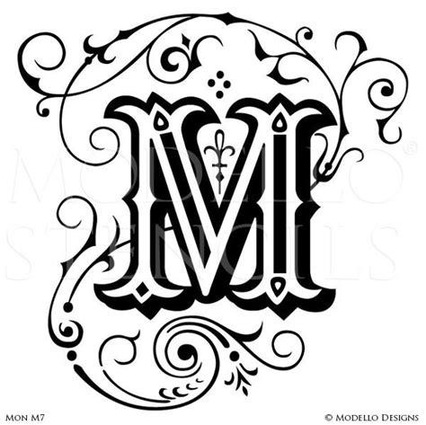 Monogram Stencils Page 2 Modello 174 Designs Monogram Letters Template