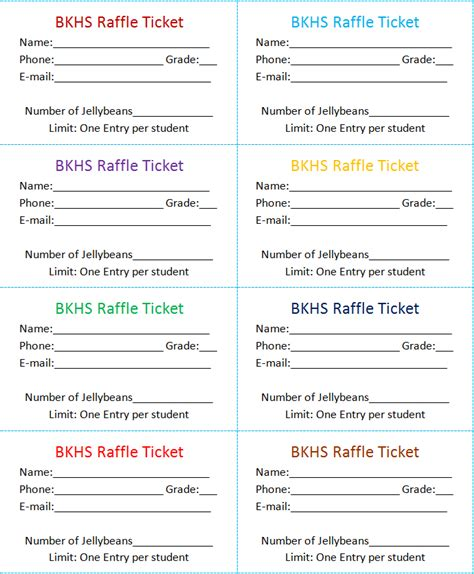 Raffle Ticket Template Word search results for free raffle ticket template for word