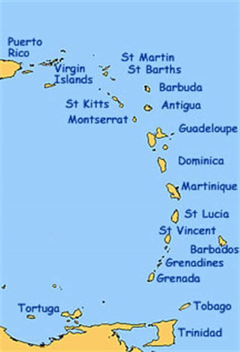 map of caribbean with country names caribbean islands names
