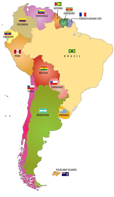 south america map with flags flags of south american countries i like this map pair it