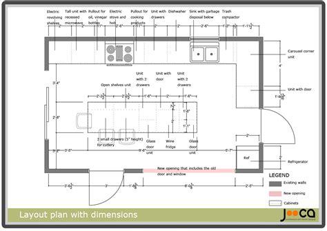 kitchen design dimensions kitchen design