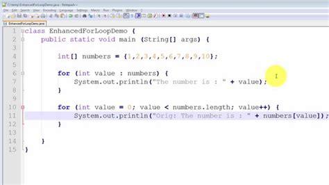 tutorial java advanced java programming tutorial the enhanced for loop