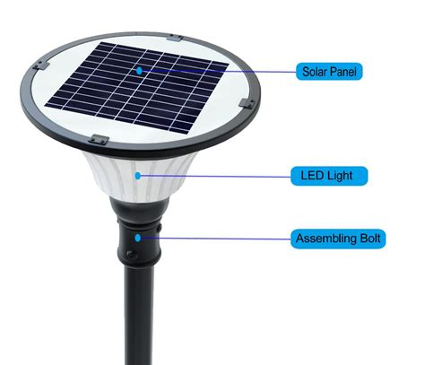 Solar Lights Pole Mounted White Led Solar Outdoor Lights For