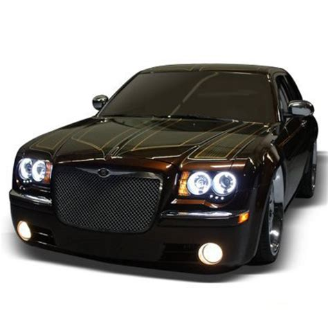 Chrysler 300c Headlights by Chrysler 300c 2005 2007 Black Ccfl Halo Headlights And Led