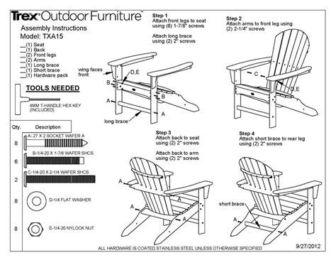 trex txa cape  adirondack chair polywood furniture