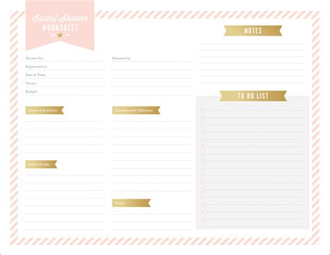 free printables for bridal shower planning