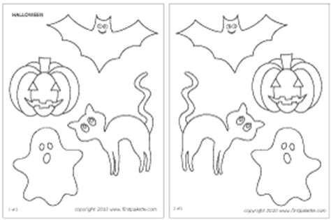 free printable halloween decorations templates halloween characters printable templates coloring