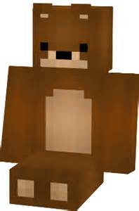 Mr bear the teddy bear minecraft skin