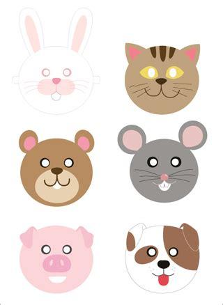 printable animal masks free printable paper animal masks