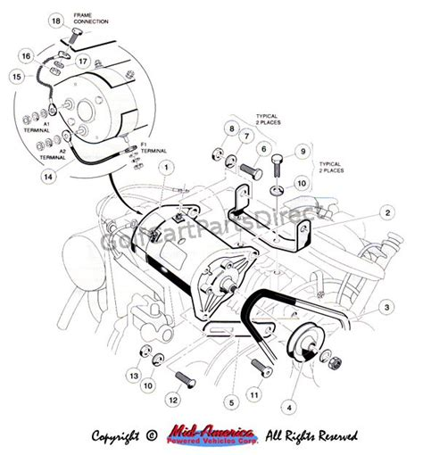 club car starter generator wiring diagram the