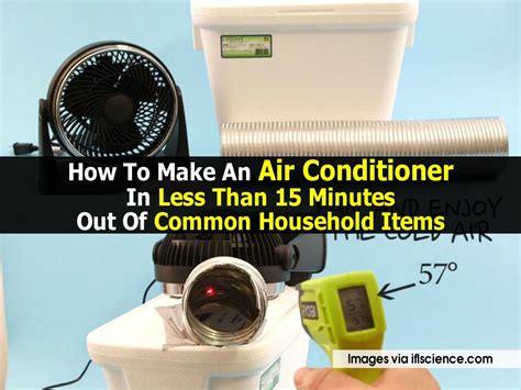 household diy projects for less than 50 how to make an air conditioner in less than 15 minutes out
