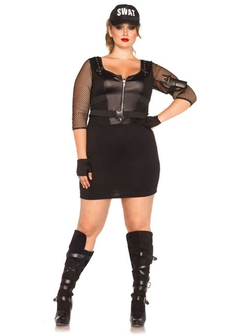 Office Costumes Plus Size Swat Office Costume