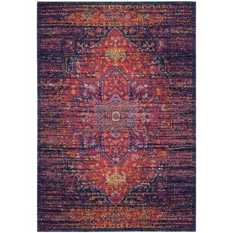fuchsia rug safavieh evoke blue fuchsia 5 ft 1 in x 7 ft 6 in area rug evk275f 5 the home depot
