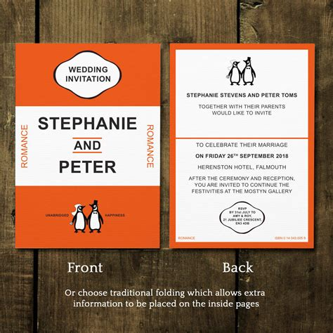 Classic Wedding Stationery by Penguin Classic Wedding Invitations And Save The Date By