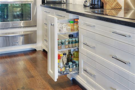 Kitchen Cabinet Pull Out Spice Rack by Accented Home In Toronto 1359 Transitional Kitchen
