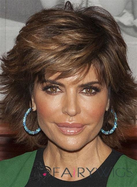 what are the colors in lisa rinnas hair polished chrishell stause short wavy capless real human