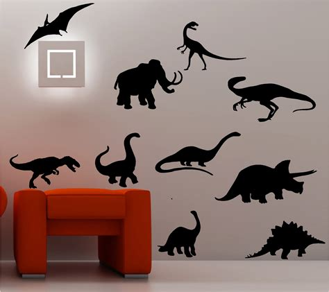Wall Stickers For Childrens Bedroom 10x dinosaurs wall art sticker vinyl quote car bedroom