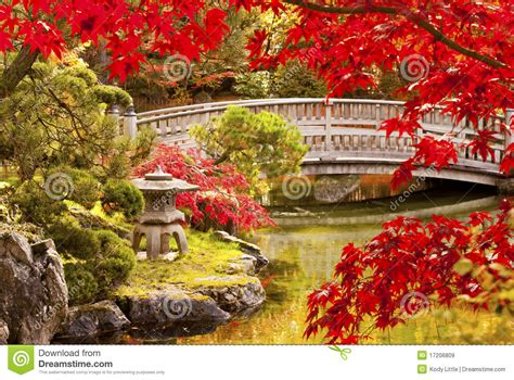 piccolo giardino giapponese giardino giapponese di autunno immagini stock libere