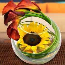 Floral designs with sunflowers sunny summer table decoration ideas