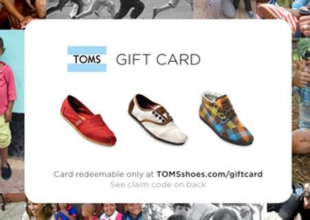 Toms Shoes Gift Card - toms shoes one day without shoes top ten tuesday