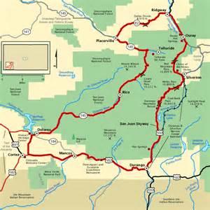 map of durango colorado and surrounding cities san juan skyway a must do telluride