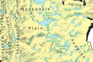 canadian lakes and rivers map canada travel guide planetware
