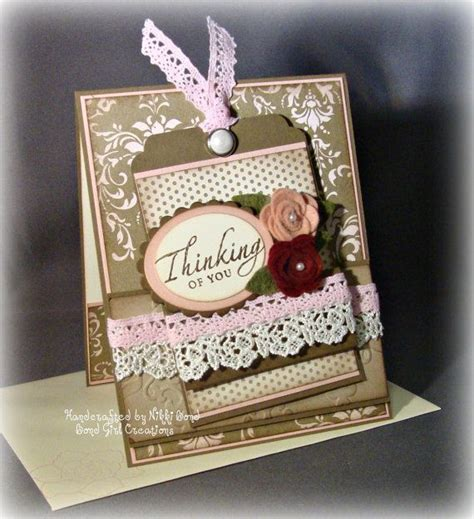 Thinking Of You Handmade Cards - thinking of you handmade card card and