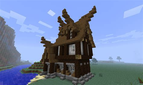 medieval house minecraft small medieval house tutorial minecraft youtube