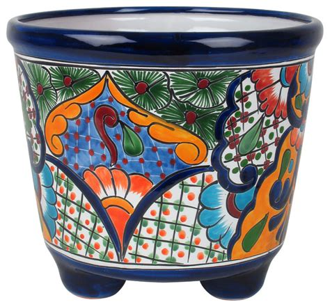 Mexican Planters Large by Large Mexican Talavera Footed Planter Rustic Home
