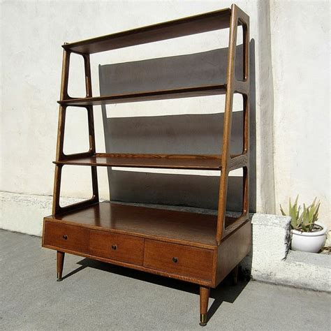 mid century modern shelves mid century modern furniture wall divider shelf three drawer four she