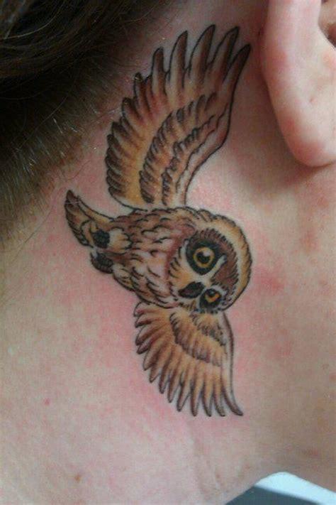 owl tattoo ear owl tattoo behind the ear tat too pinterest