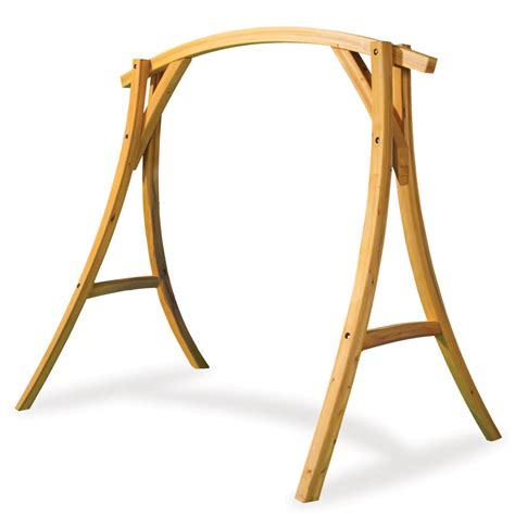 how to make a swing stand the arched cypress swing stand hammacher schlemmer