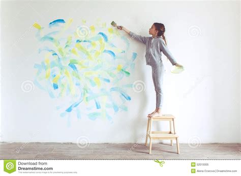 painting for child child painting wall stock photo image 52015005