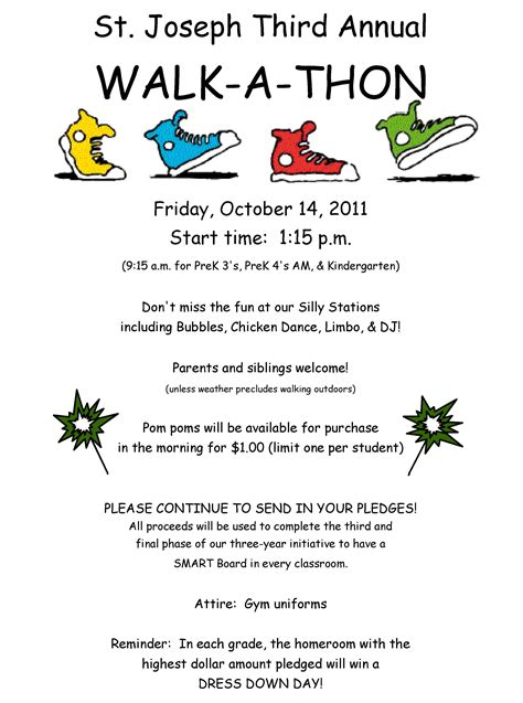 Walkathon Pto Pinterest Fundraising School And School Council Ideas Walk A Thon Flyer Template