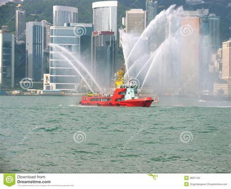 fire boat hong kong fireboat in hong kong city stock photography image 3601142