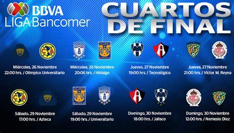 Calendario Monterrey Liga Mx 2014 Horarios De La Liguilla Apertura 2014 Cuartos De