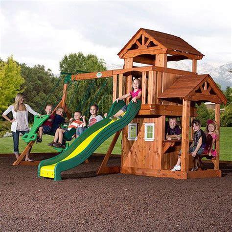 pathfinder swing set pathfinder wooden activity swingset outdoor playground