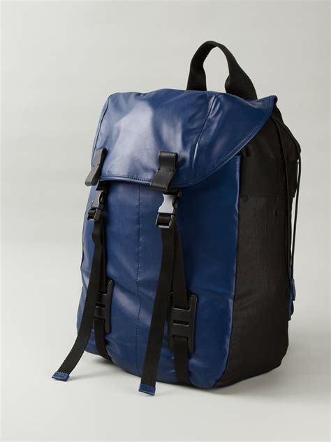 Backpack Blue lanvin buckle leather backpack in blue for lyst