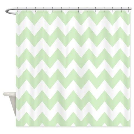 Mint Green Chevron Shower Curtain By Chevroncitystripes