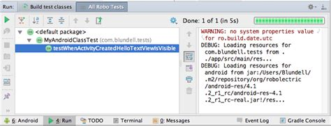android studio junit test tutorial tut how to run robolectric junit tests in android studio