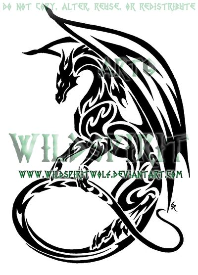tattoo dragon tribal design tribal tattoos and designs page 3