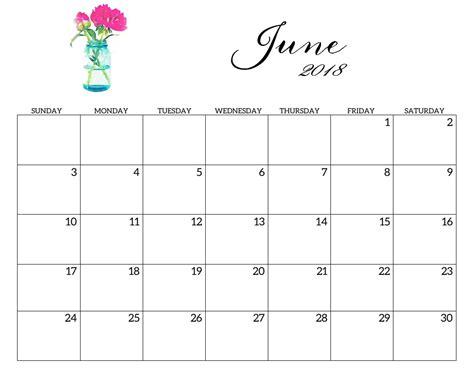 printable free june calendar free june 2018 calendar printable download now